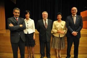 José María Valpuesta, esther Domínguez, Bernat Soria, Isabel Celaá, Iñaki Goirizelaia