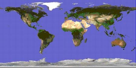 Proyección geográfica o plate carrée