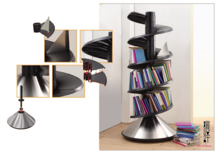 http://www.designrulz.com/product-design/storage-items/2010/10/bookshelves-in-a-spiral-system/