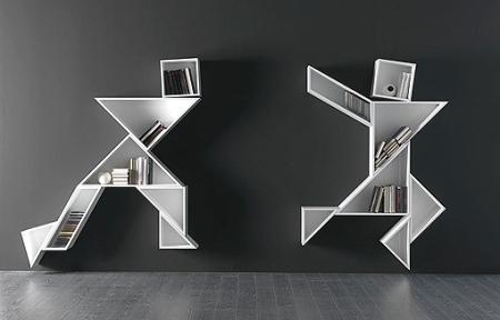 Libtrería inspirada en el tangram, http://www.decoratrix.com/libreria-inspirada-en-el-juego-del-tangram/45411/
