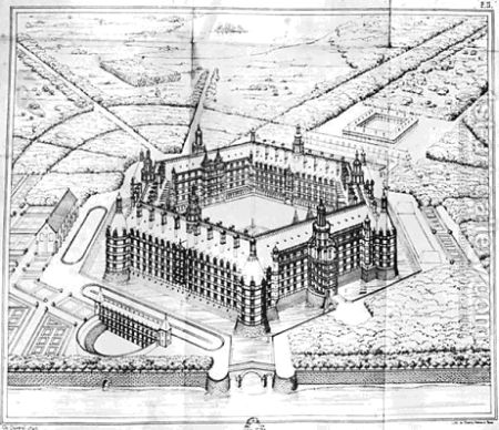 Reconstruction of Theleme Abbey, ilustración de Rabelais et l'architecture de la Renaissance, Charles Lenormanthttp://bit.ly/10CPgHO