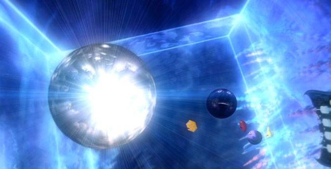 El teseracto en el que se encuentra en centro de todos los espacios de diferentes dimensiones