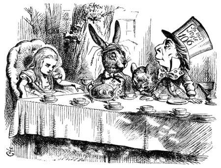 Ilustración original (1865) de John Tenniel  para 'Alice's Adventures in Wonderland' de Lewis Carroll