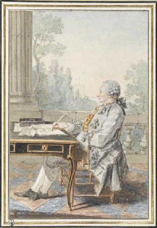 Alexis Clairaut (1713-1765), dibujo de Carmontelle, Musée Condé, Chantilly http://www.clairaut.com/n1763po1pf.html