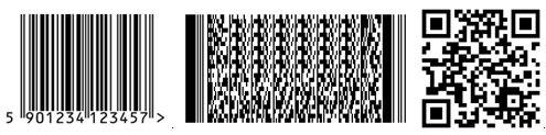 EAN 13, PDF 417 y Código QR