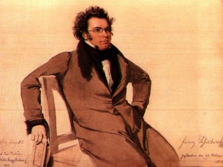 Retrato de Franz Schubert por Wilhelm August Rieder (1825)