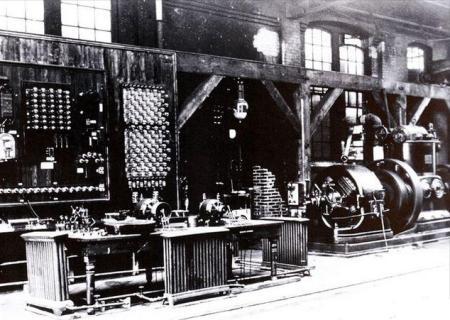 Laboratorio donde trabajaron Nikola Tesla y George Westinghouse para desarrollar la corriente alterna http://io9.com/incredible-historic-pictures-of-early-science-labs-485796493/incredible-historic-pictures-of-early-science-labs-485796493