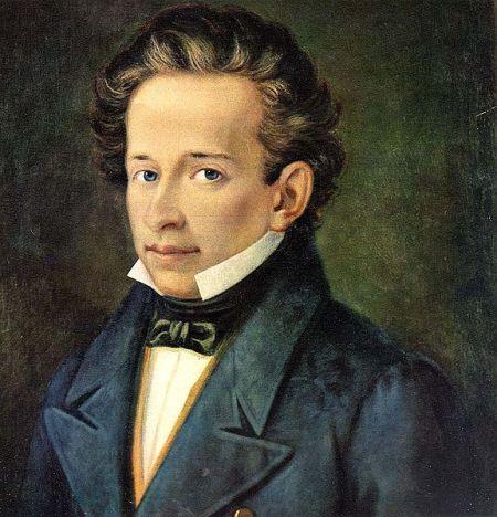 Giacomo Leopardi, óleo sobre tela de A. Ferrazzi (1820)