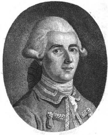 Jean-Dominique Cassini en 1801.  Litografía de Conrad Westermayr