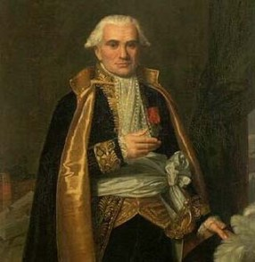Retrato de Gaspard Monge por Jacques-André Naigeon