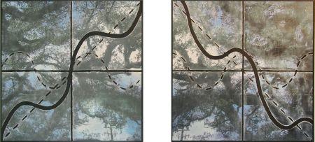 "Sarah Brewer: ""Live Oaks: y=sinx+x and y=cosx-x"", 2010 http://www.artnotapathy.com/images/sinxplusxandcosxminusx-final.jpg"