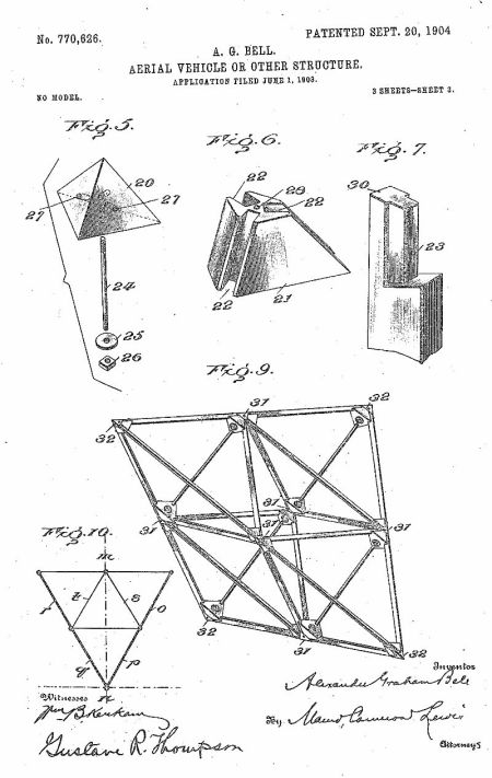 Patente de la cometa de Bell: página 2 http://www.freepatentsonline.com/0770626.pdf