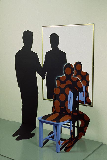 """Justen Ladda, """"Image approved"""", 1988 http://justenladda.com/pages/pages%20installations/imageapproved2.html"""