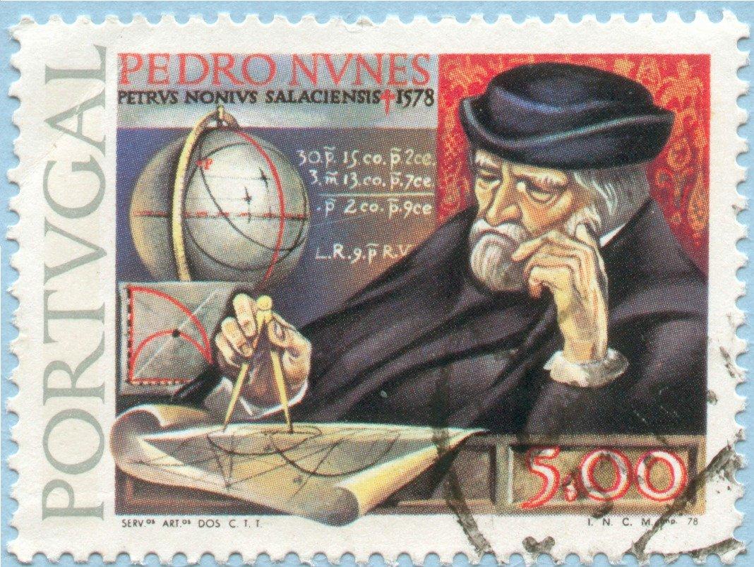 Resultado de imagen de En 1537, el gran cartógrafo portugués Pedro Nunes