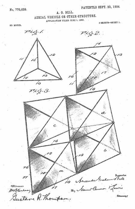 Patente de la cometa de Bell http://www.freepatentsonline.com/0770626.pdf