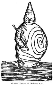 Père Ubu por Alfred Jarry http://commons.wikimedia.org/wiki/File:Ubu-Jarry.png