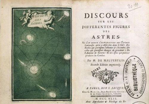 """Pierre Louis Moreau de Maupertuis, """"Discours sur les différentes figures des astres"""" http://gallica.bnf.fr/ark:/12148/btv1b26001880/f1.item.langES"""