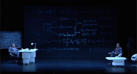 Aitor Mazo –el físico– y David Luque –el periodista– en el comienzo de la entrevista. Foto cedida por Gustavo Ariel Schwartz