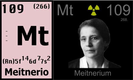 El nombre del elemento 109 en honor a lise meitner quik urtaz Gallery