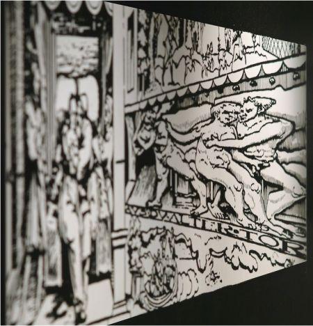 """Erhard Schön, """"Aus, du alter Tor!"""", 1538 (parte izquierda de la imagen vista desde el ángulo correcto)"""