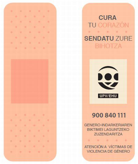 Tirita marcapáginas diseñada por Yolanda Gallo, Pablo Barrio, Haizea Vega, Jose Antonio Martin y Marta Villalobos