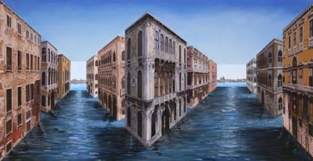 """Patrick Hughes, """"Vanishing Venice"""" http://en.wikipedia.org/wiki/File:Vanishing_Venice_-_Patrick_Hughes.jpg"""