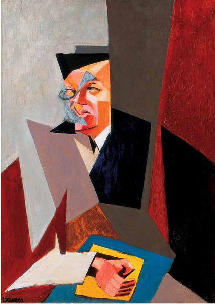 "Lajos Tihanyi, ""Portrait of Tristan Tzara"", 1927"