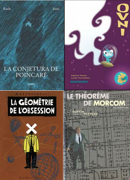 Algunas portadas de cómic en los que las matemáticas aparecen de alguna manera
