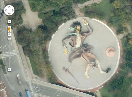 Parque Gulliver, Jardín del Turia, Valencia (Google Earth)