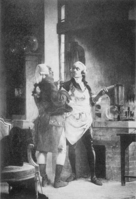 Claude Louis Berthollet (1748 - 1822) y Antoine-Laurent de Lavoisier (1743-1794)
