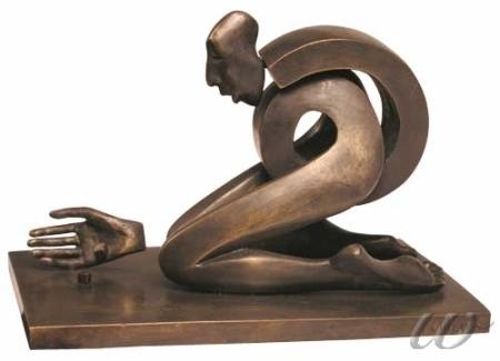 "Isabel Miramontes, ""Hazard"", bronce http://blog.rewelch.com/2010/12/miramontes-art-gens-passions-interview.html"