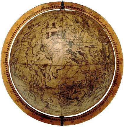 Globo celeste de Gemma Frisius,  Van der Heyden y Mercator (1537) http://www.rmg.co.uk/server/show/conMediaFile.3734