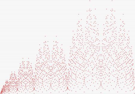 Diagrama de dispersión de la sucesión de  Stern-Brocot