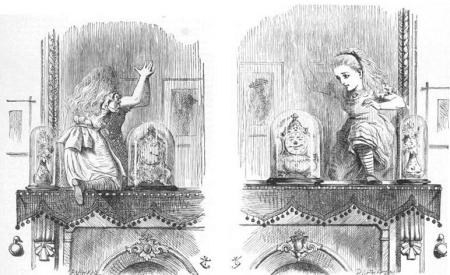 Alicia atravesando el espejo