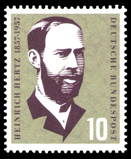 DBP_100._Geburtstag_Heinrich_Hertz_10_Pfennig_1957