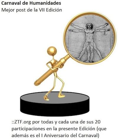Premio Mejor Post en la VII Edición del Carnaval de Humanidades..Gracias a Marta Macho