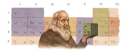 182º aniversario del nacimiento de Dmitri Mendeleev (2016)