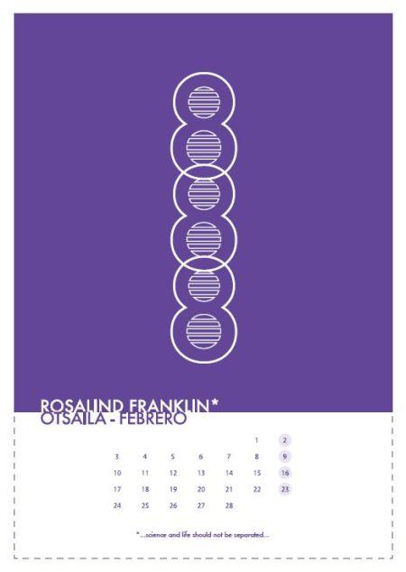 El mes de febrero en el calendario 2014 diseñado para la Comisión para la Igualdad de la ZTF-FCT por Iñigo Tobes Bardi, Eder Ruesga Lopez e Iñigo San Emeterio