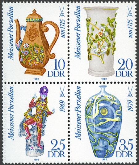 300 aniversario del nacimiento de Johann Friedrich Böttger (1682-1719). fundador de la Fábrica de Porcelana de Meissen (1982)