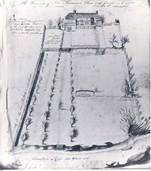 Boceto del jardín del botánico John Bartram http://superpupsays.typepad.com