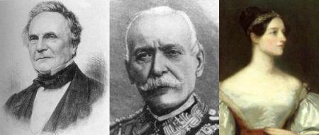 Charles Babbage, Luigi Federico Menabrea y Ada Lovelace