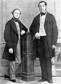 Gustav Kirchhoff y Robert Bunsen