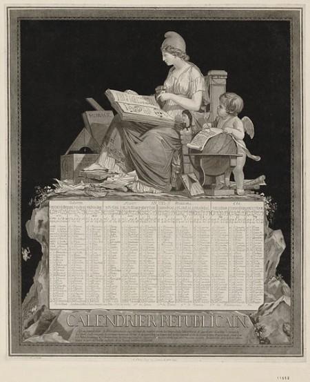 Calendario republicano de 1794.