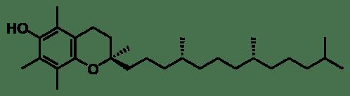 Estructura química del alfatocoferol