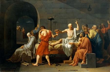 Jacques-Louis David, La muerte de Sócrates (1787)