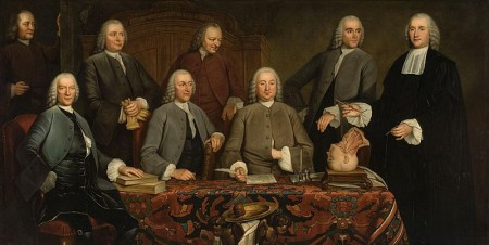 "Camper's Anatomy lesson painted in 1758 commemorating his installment as ""praelector"" of the Surgeon's guild in 1755 in Amsterdam. This painting hung in the Waag and later in the Athenaeum Illustre of Amsterdam"