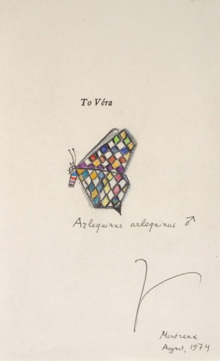 Dibujo de Nabokov en la última novela dedicada a su esposa Vera http://rmc.library.cornell.edu/footsteps/exhibition/buildingcollections/buildingcollections_3.html