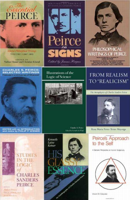 Algunas portadas de libros de y sobre Charles Sanders Peirce
