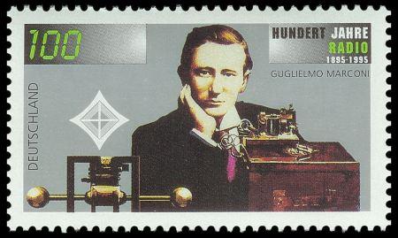 Sello con motivo del centenario de la radio http://commons.wikimedia.org/wiki/File:Stamp_Germany_1995_Briefmarke_100_Jahre_Radio.jpg