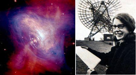 Púlsar de la Nebulosa del Cangrejo y Jocelyn Bell Burnell